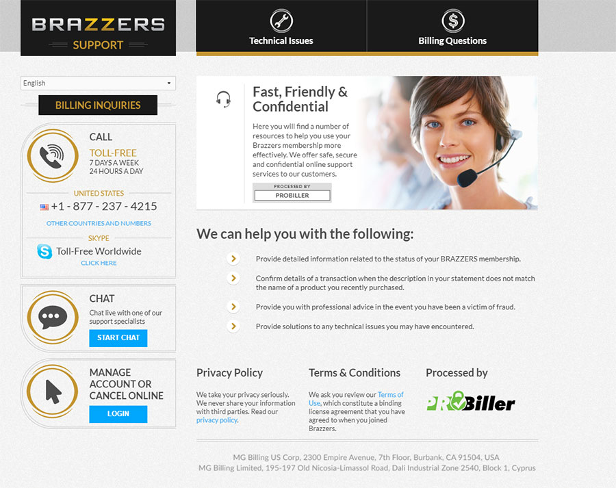 Brazzers cancel page