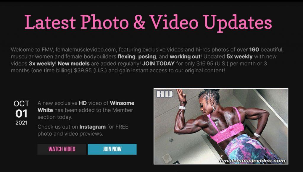 Female Muscle Video homepage